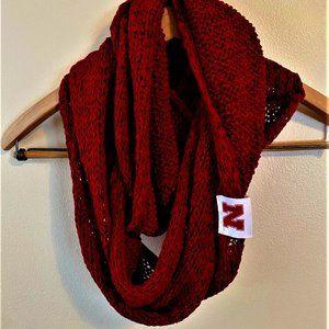 Nebraska Huskers Red Knit Infinity Scarf